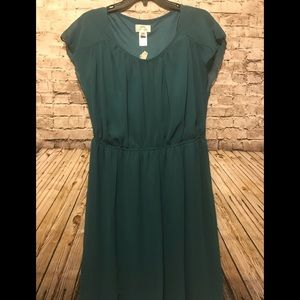 Sweet storm size 16W hunter green dress